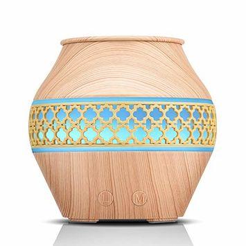 Aromatherapy Essential Oil Diffuser, 120ml Mini Wood Grain Cool Mist Humidifier Small Fragrance Oil Diffuser Humidifier with 4 Mist Output for Baby/Office/Home/Study/Yoga/Spa/Travel