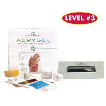 AcryGel Kit with UV Lamp (110 V) by Star Nail
