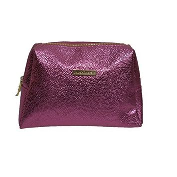 BareMinerals Metallic Pink Faux Leather Cosmetic Makeup Bag