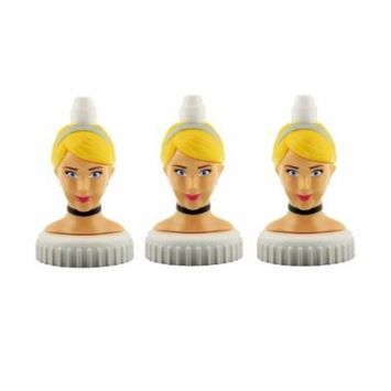 good2grow spill-proof bottle toppers 3-pack, Cinderella
