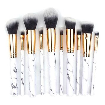 Makeup Brushes Set, CYCTECH 10Pcs Nylon Professional Eyeshadow Eyeliner Foundation Blush Lip Powder Liquid Cream Cosmetics Blending Brush Tool