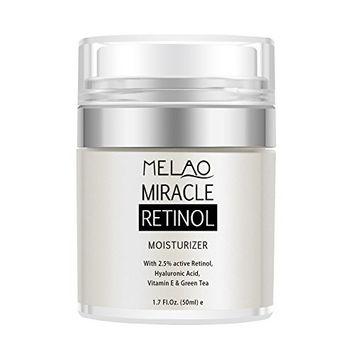 Moisturizer Cream with Active 2.5% Retinol & Hyaluronic Acid 1.7 Oz, Improve Skin Texture and Tone