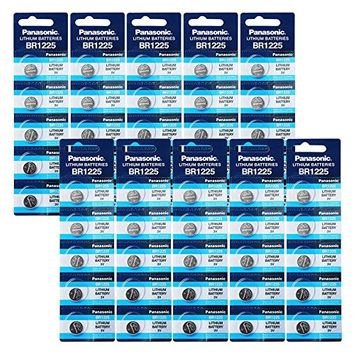 Panasonic BR1225 3V Lithium Battery 10PACK X (5PCS) = 50 Single Use Batteries