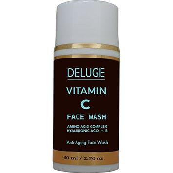 VITAMIN C FACE WASH GEL with Amino Acid Complex, Hyaluronic Acid, Tea Tree Oil and Vitamin E