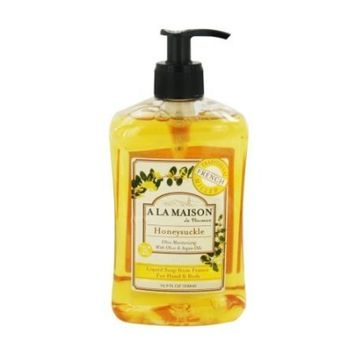 A La Maison Traditional French Milled Liquid Soap Honeysuckle - 16.9 oz, 3 pack