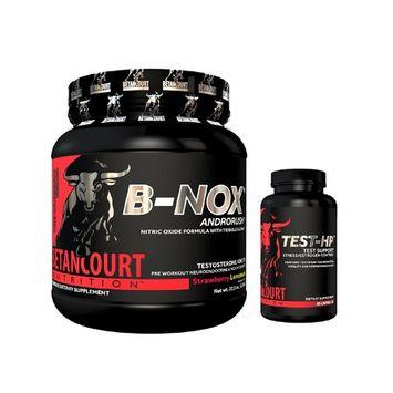 Betancourt Nutrition B-NOX Strawberry Lemonade Bullnox Pre-Workout + TEST-HP 90 Capsules Combo