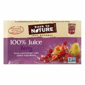 Back to Nature 8 pk All Natural Berry Juice, 48 OZ (Pack of 5)