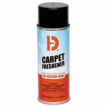 Big D Industries 241 No-vacuum Carpet Freshener, Foam, Fresh Scent, 14 Oz Aerosol, 12/carton