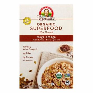 Dr. McDougall's Organic Hot Cereal, Superfood Mega Omega Packets, 4 Ct, 5.3 Oz