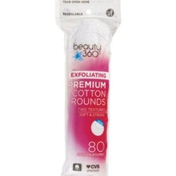 Beauty 360 Exfoliating Premium Cotton Rounds, 80CT