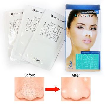 Iexy 3 Pc Nu-Pore Nose Pore Cleansing Strips Blackhead Remover Peel Off Strip Removal
