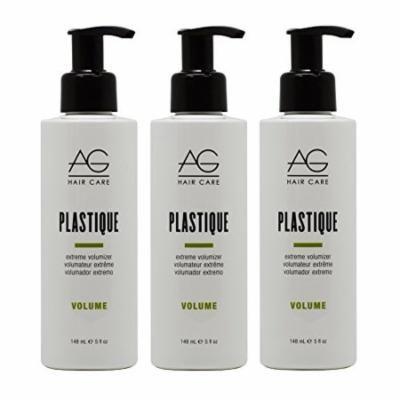 """AG Hair Volume Plastique Extreme Volumizer 5oz """"Pack of 3"""""""