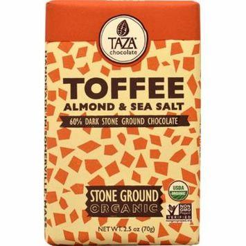 Taza Chocolate Dark Chocolate Bar Stone Ground Almond & Sea Salt -- 2.5 oz pack of 6