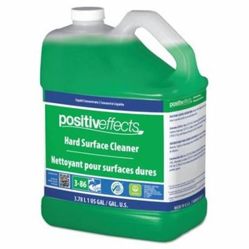 PositivEffects Hard Surface Cleaner, Unscented, 1 gal Bottle, 4/Carton