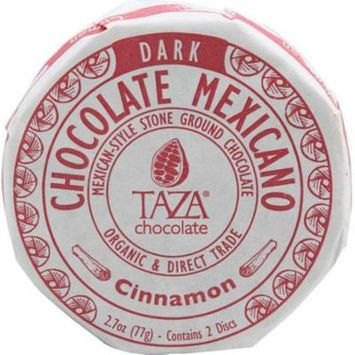 Taza Chocolate Organic Chocolate Mexicano Disc Cinnamon -- 2.7 oz pack of 2