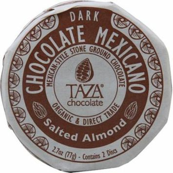 Taza Chocolate Organic Chocolate Mexicano Disc Salted Almond -- 2.7 oz pack of 4