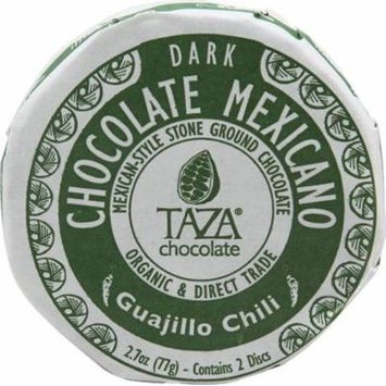 Taza Chocolate Organic Chocolate Mexicano Disc Guajillo chili -- 2.7 oz pack of 2