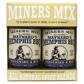 Maynards Memphis BBQ Seasoning and Rub for Huge Flavor to Smoked Pulled Pork, Butts, Baby Backs or Spare Ribs. The No Sauce Needed Rub. Made With Brown Sugar and All Natural, Low Sodium
