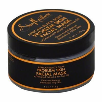 Shea Moisture African Black Soap Problem Skin Facial Mask, 4 Oz, 6 Pack