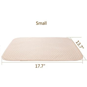 Baby Waterproof Urine Mat Natural Organic Cotton Crib Mattress,Diaper Changing Pad Washable Incontinence Sheet Cover Protector for Toddler Adults (S, 1 PCS)