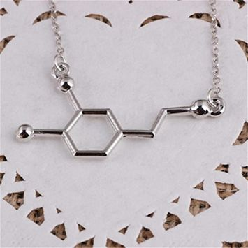 Fheaven DNA Necklace Dopamine Biochemistry Molecule CATOP Chemical Structural Necklace