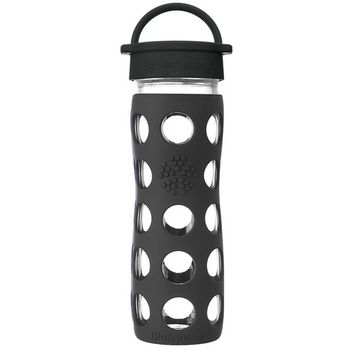 Glass Water Bottle with Classic Cap and Silicone Sleeve Core 2.0 Onyx - 16 fl. oz.