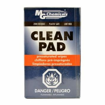 MG Chemicals 824 Clean Pad Presaturated Wipes, 91% IPA, 3x4 - 50