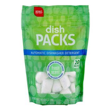 Smart Sense Dish Packs Automatic Dishwasher Detergent Fresh Scent - 20 CT