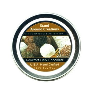 GOURMET DARK CHOCOLATE TIN 4-OZ.