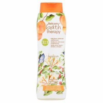 Belcam Bath Therapy 3-in-1 Body Wash, Bubble Bath, & Shampoo, Botanicals Honey/Peach, 32 Oz
