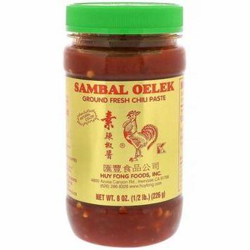 Huy Fong Foods Inc., Sambal Oelek, Ground Fresh Chili Paste, 8 oz(pack of 1)