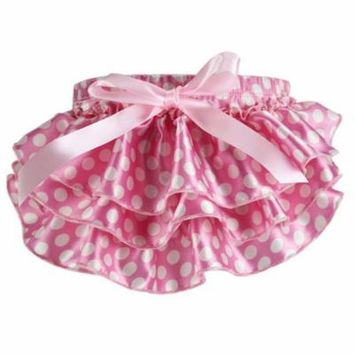 Newborn Baby Bloomer Cute Floral Diaper Cover Tutu Panties for Baby Girls (Pink, S)