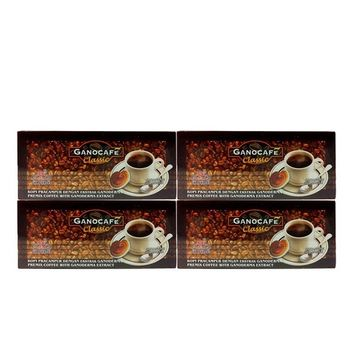 4 boxes GanoCafe Ganoderma Classic Black Coffee by Gano Excel