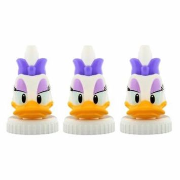 good2grow Spill-proof Bottle Toppers 3-pack, Disney - Daisy Duck