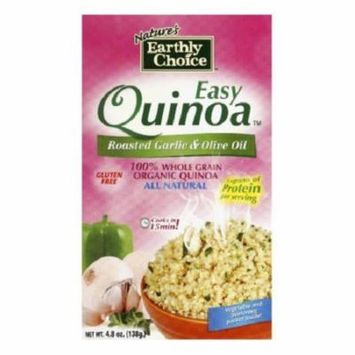 Natures Earthly Choice Easy Quinoa Gluten Free Roasted Garlic and Oil Olive Case of 6 4.8 oz.