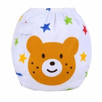 Swim Diaper Adjustable Reusable Washable Water-Proof Breathable Infant Pool Pant for 0-2 Years Old Baby
