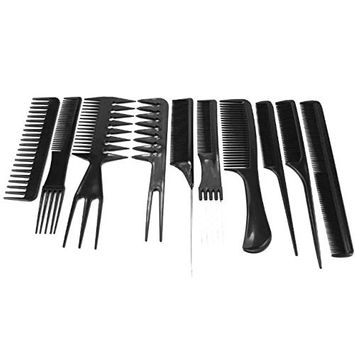Brendacosmetic 10 Pcs Professional Salon Hair Cutting Comb Set, 10 Pcs Hair Color Applicator Comb Set Hair Style Tool for Salon