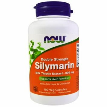 Now Foods, Silymarin, Milk Thistle Extract with Artichoke & Dandelion, Double Strength, 300 mg, 100 Veg Capsules(pack of 4)
