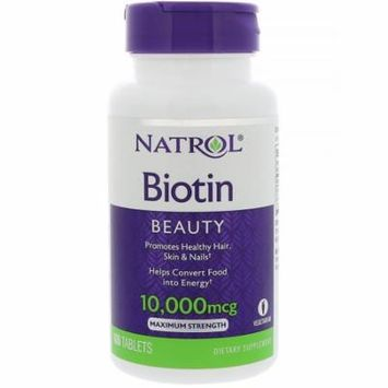 Natrol, Biotin, 10,000 mcg, 100 Tablets(pack of 12)