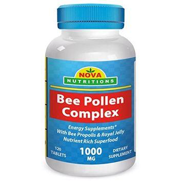 Nova Nutritions Bee Pollen Complex 1000 mg 120 Tablets