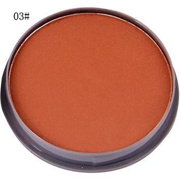 Hunputa Concealer,Pressed Face Base Foundation Makeup Concealer Baked Powder Color Correcting Complete Coverage Blemish Face Contouring Highlighter Palette