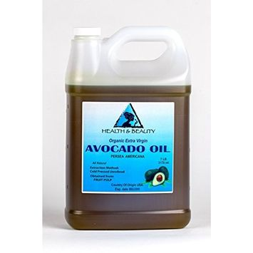 Avocado Oil Extra Virgin Organic Unrefined Cold Pressed Raw Premium Quality Natural Pure 128 oz, 7 LB, 1 gal