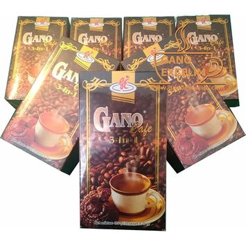 5 BOXES OF GANO EXCEL GANO CAFE 3 IN ONE ENRICHED COFFEE WITH GANODERMA .(FREE AND FAST SHIPPING