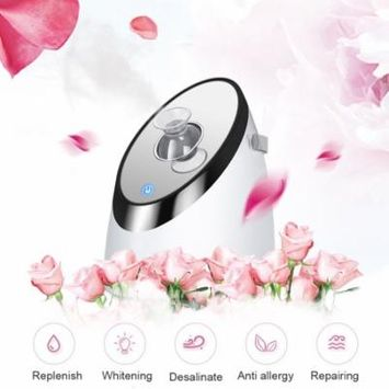 Ovonni Nano Ionic Warm Mist Facial Steamer Sprayer HumidifierMoisturizes Cleanses Unclogs Pores Removes Dirt, White