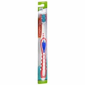 2 Pack Quality Choice Complete Clean Soft Toothbrush 1 Count Ea (Color may vary)