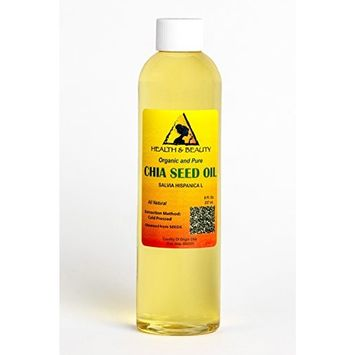 Chia Seed Oil Organic Carrier Cold Pressed Natural Fresh 100% Pure 8 oz