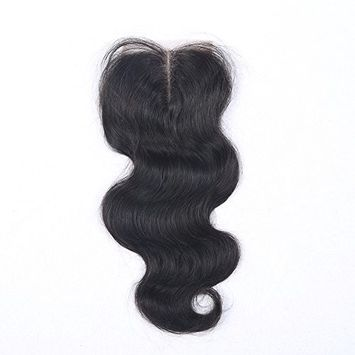 Beata Hair Brazilian Lace Closure Body Wave 18inch Middle Part Human Hair Closure Bleached Knots with Baby Hair