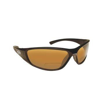 Flying Fisherman Falcon Polarized Sunglasses Black Frame with Amber Lens Bifocal Reader 150