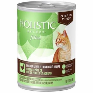 Holistic Select Natural Wet Grain Free Canned Dog Food, Chicken Liver & Lamb P?t? Recipe, 13-Ounce Can (Pack of 12)