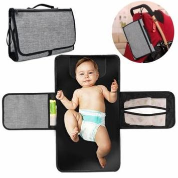 Baby Diaper Changing Pad Folding Portable Waterproof Diaper Changing Mat Changing Station for Travel